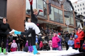 Glisse on Ice perform for the crowd.