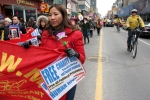 Carrying a Banner Down Yonge Street