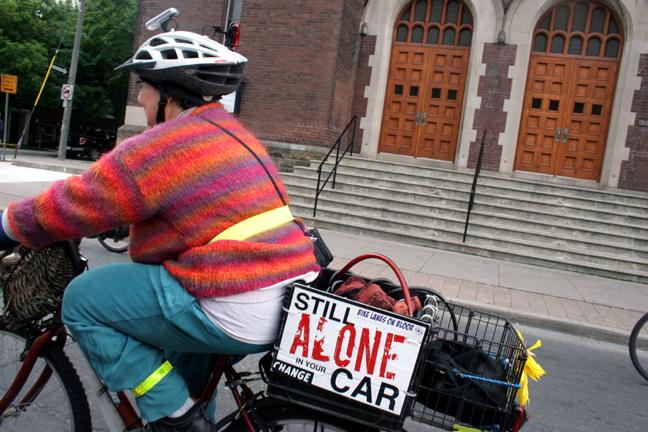 Alone On Her Bike