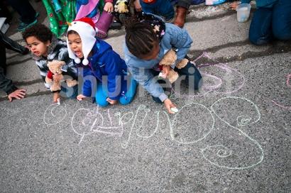 Santa Chalk
